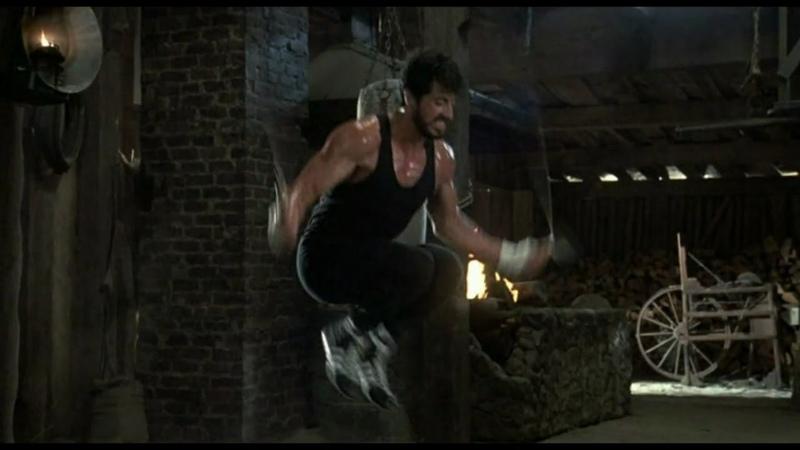 Тренировка из фильма Рокки 4 1985 г. Сильвестр Сталлоне и Дольф Лундгрен