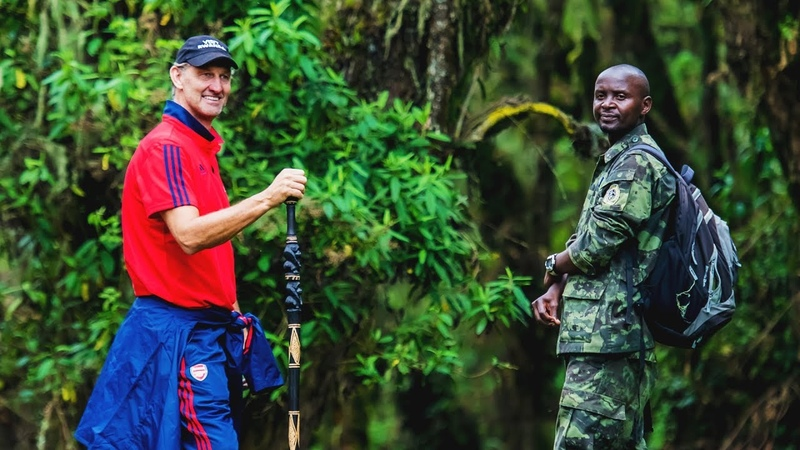 Tony Adams goes trekking in Rwanda Visit Rwanda x Arsenal