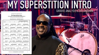My Superstition Intro - Groove & Fill Breakdown with Transcription - Drum Lesson by Nick Bukey