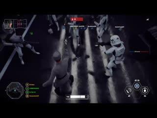 Забавный момент из игры Star Wars Battlefront II