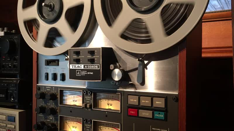 Teac A 3340S 4 Track 15 ips Reel to Reel Tape Deck