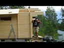 Assembling a Timber Frame Sauna