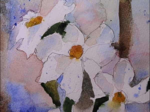 Painting White Flowers in Watercolor with Chris Petri