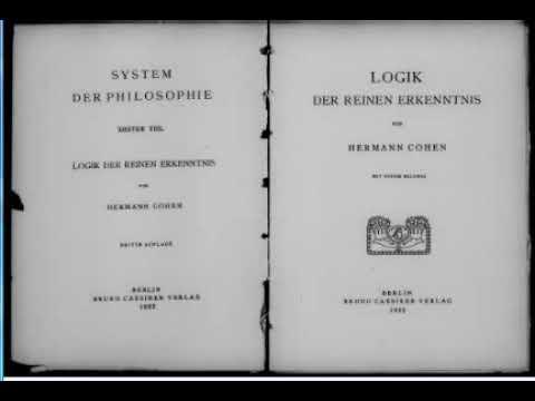 Герман Коген Логика чистого познания 1 Четыре значения знания