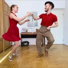 "Sondre & Tanya on Instagram: ""Demo of Boogie Woogie Online Course with @sondreobye & @tanyageorgiievska - Link in Bio! #sondreandtanya"""