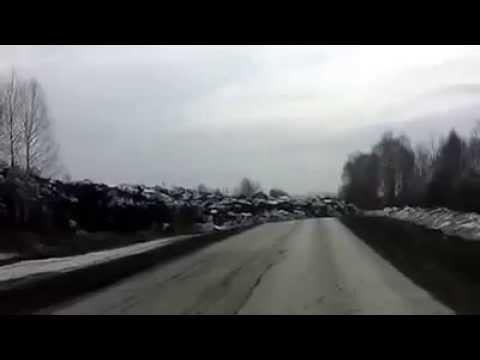 Оползень Отвал Заречный Кемеровская область