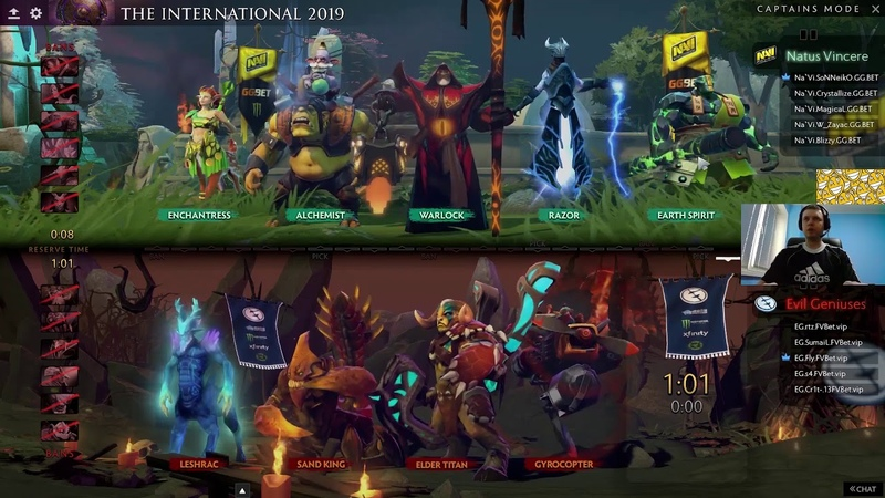 AUG 15, 2019 - TI 2019 Group Stage - EG vs Na`Vi