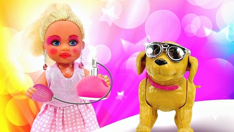 Штеффи одна дома Накрасилась и нарядилась в платье Барби Игры в куклы