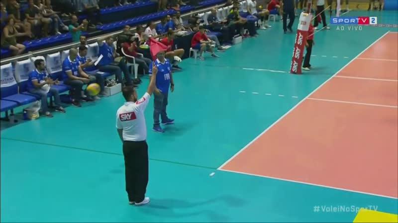 Минас Сеск Волейбол Бразилия Суперлига Мужчины Плей офф Четвертьфинал Сезон 2018 2019 Второй матч 28 03 2019