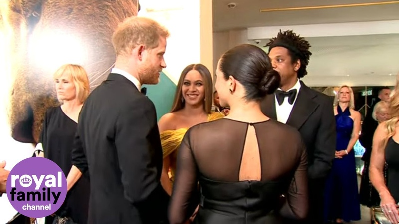 We Love You Guys Beyoncé Tells Duke and Duchess of Sussex at Lion King Premiere