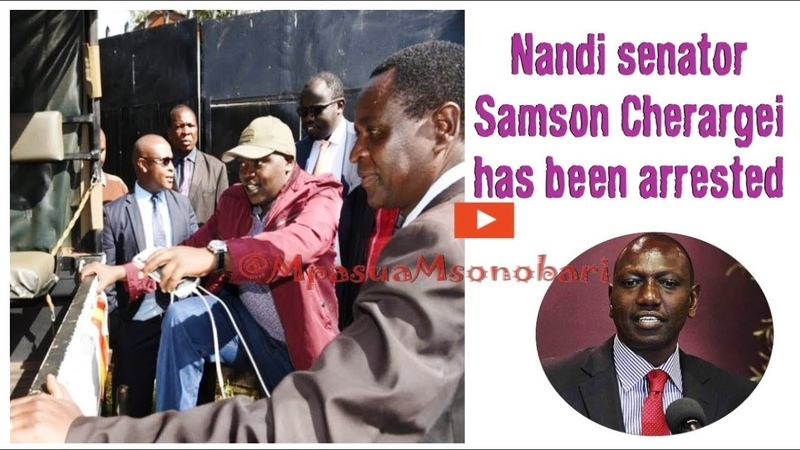 How the 'Powerful' Nandi Senator Samsom Kiprotich Cherargei was Arrested and released same day