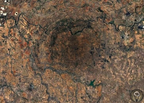 Около 2 миллиардов лет назад тут образовался самый большой на Земле ударный кратер - Вредефорт