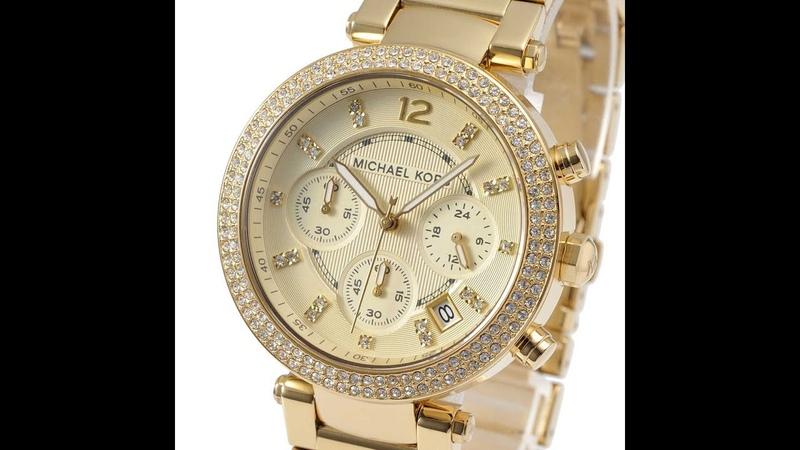 MICHAEL KORS MK5354 WATCH PARKER CHRONOGRAPH GOLD TONE WOMENS GLITZ REVIEW MK5354 マイケル・コース 腕時計 ゴールド
