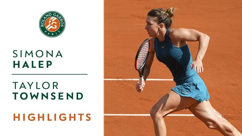Simona Halep vs Taylor Townsend Round 2 Highlights I Roland Garros 2018