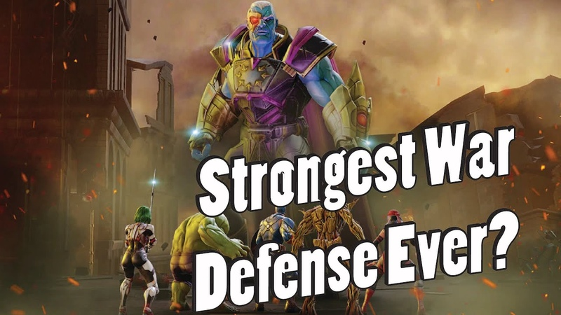 Is this the Strongest War Defense Ever Ultimus with Mercs is Crazy Theory Marvel Strike Force