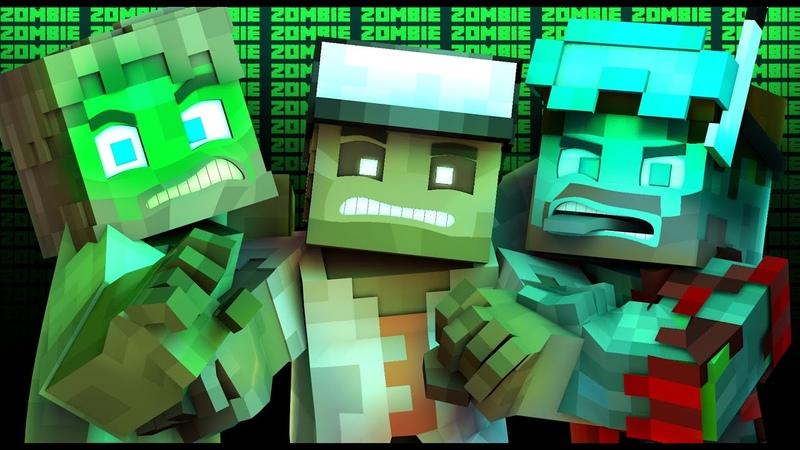 НЕЖИТЬ l Майнкрафт Зомби Рэп (Minecraft Animated Music Video)