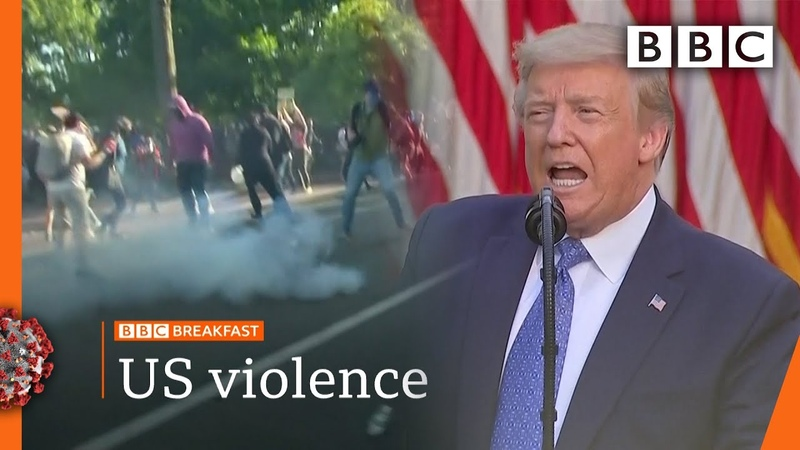 George Floyd: Trump threatens to send in army to end unrest Top stories this morning BBC