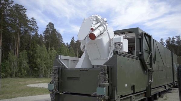 Установленная на прицепе лазерная система «Пересвет». Из видео Министерства обороны России.
