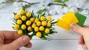 Мимоза своими руками из фоамирана Брошь к 8 Марта Цветы из фоамирана Eva foam flowers tutorial