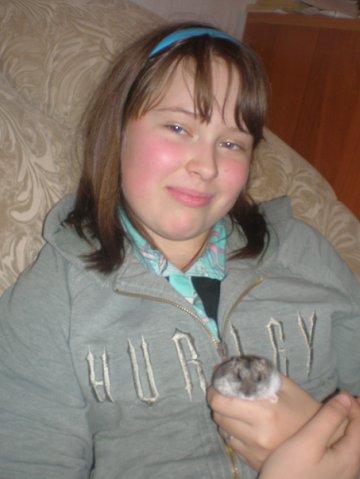 Лерочкаъъъ Кудрявцева: Мой хомичек и полруга Карина.