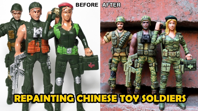 Repainting Cheap Chinese Toy Soldiers