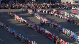 Курск. Установление рекорда по массовому исполнению народного танца