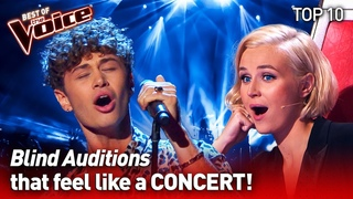 They turned their Blind Audition into a CONCERT on The Voice | TOP 10