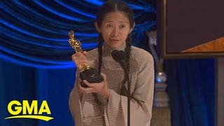 Chloé Zhao accepts Best Director Academy Award for 'Nomadland'   GMA