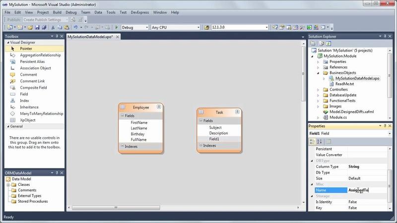 XAF: Start from Building a Data Model using the XPO Data Model Designer