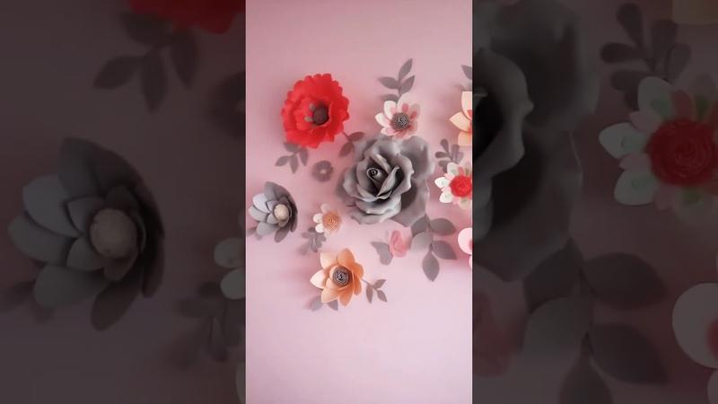 Настенная композиция из цветов