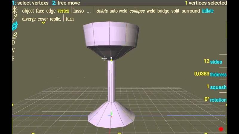Short spacedraw tutorial 10 create a wine glass