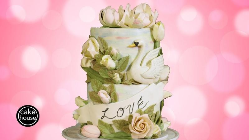 Pretty Swan Cake I'm Bored Let's Make Something