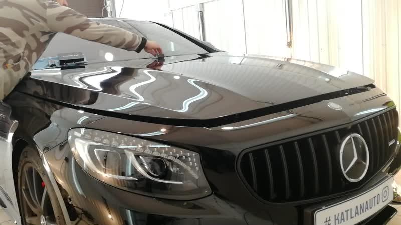 Mercedes S65 AMG Полировка автомобиля и нанесение керамики
