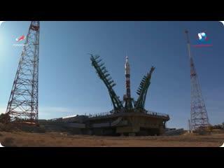Вывоз и вертикализация РН Союз-2.1а с ТПК Союз МС-17  11 октября 2020