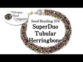 Make a SuperDuo Tubular Herringbone Bracelet
