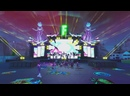 3 Marshmello отыграл сет на виртуальной сцене, построенной в Fortnite online игра с виртуальным миром.