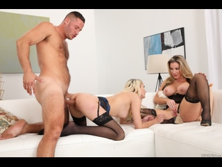 Kayla Paige, Tana Waters - My Husband Brought Home His - Threesome Sex Teen Milf Big Tits Juicy Ass Deepthroat Blonde Stockings