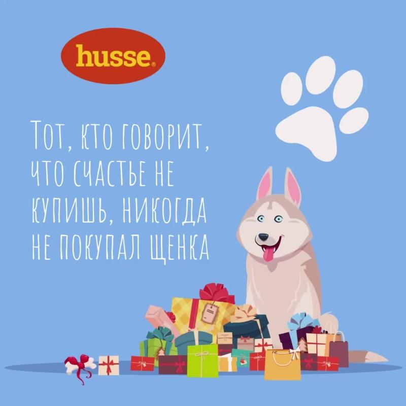 Сухой корм для собак HUSSE