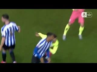 Sheffield Wednesday midfielder Barry Bannan nutmegging Bernardo Silva like it's nothing