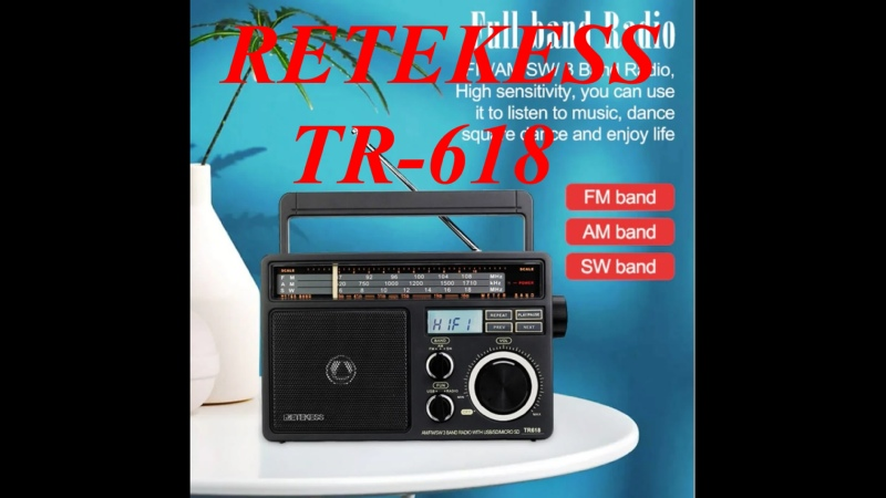 All wave multi band radio receiver RETEKESS TR 618