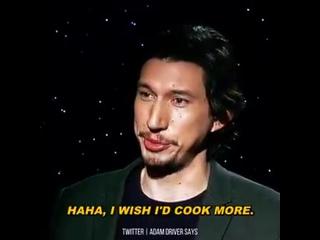 Adam Driver on Star Wars: The Force Awakens Press Junket, 2015