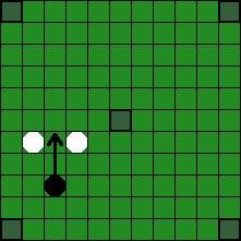 Хнефатафл (тавлеи) -  Возможные способы «срубания» фигуры противника (6)