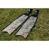 Ласты Leaderfins стеклотекстолитовые Sterеofins  Grey Camo, размер 20x80 см