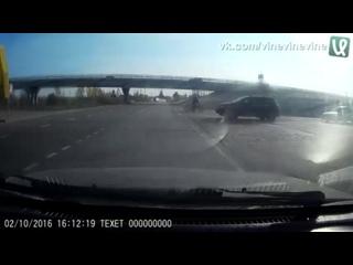 Авария на мотоцикле.