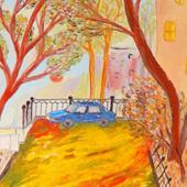 """Картина """"Машина во дворе"""", 2016 г."""