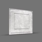 ПАЛЕРМО 3D панель облицовочная серебристый мрамор Rakitta