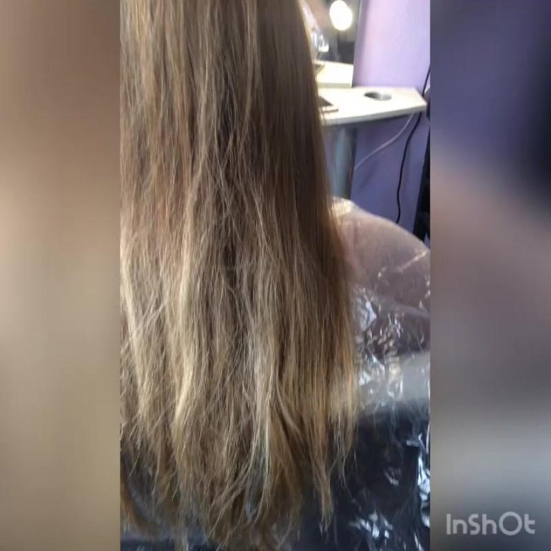 🙌🏻Ботокс для восстановления сильно повреждённых волос на глубоком уровне 💆🏼♀️ тел 📲для записи 89139787818🎀