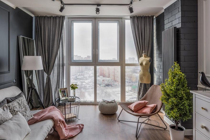 Дизайн квартиры 30 м в Самаре.