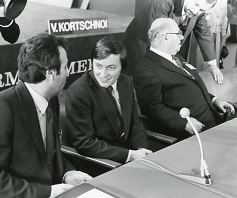 Александр Рошаль, Анатолий Карпов, Виктор Батуринский (Мерано 1981)
