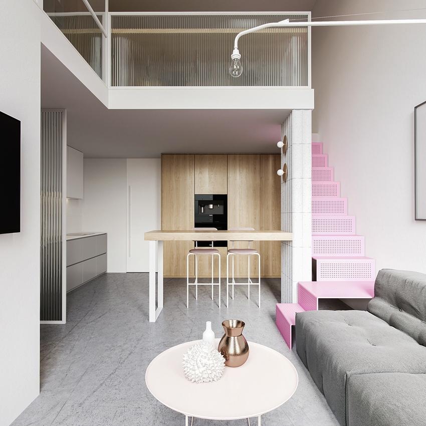 Проект двухуровневой квартиры 31 кв.